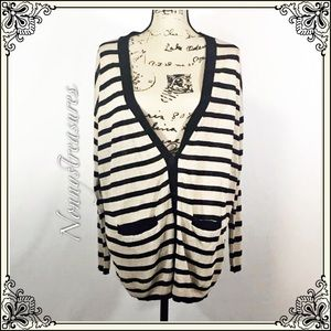 Victoria's Secret Tan and Black Stripped Sweater